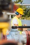 Gas Production Operator Stock Photo