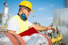 Gas Production Operator Royalty Free Stock Photography