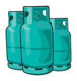 Gas. Propane gas cylinder isolated on a white background Royalty Free Stock Photos