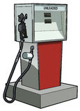 Gas Pump. Old time gas pump for unleaded gasoline or petrol Royalty Free Stock Photos