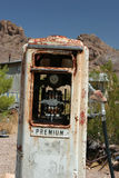 Gas pump. Old rusty gas pump in the junk yard Stock Images