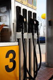 Gas pump. S in a station Royalty Free Stock Photography
