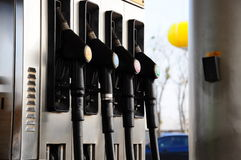 Gas pump. S in a station Stock Images