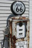 Gas pump. Route 66 vintage gas pump Royalty Free Stock Photography