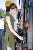 At the Gas Pump Stock Photos