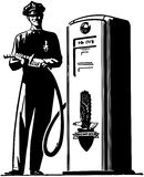 Gas Pump Attendant Royalty Free Stock Images
