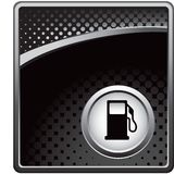 Gas pump on black halftone template Royalty Free Stock Image
