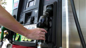 Gas Pump 1c stock video footage