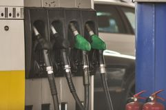 Gas pump. Close-up of a gas pump royalty free stock images