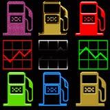 Gas pump crisis Stock Photography
