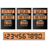 Gas pump display Stock Photos