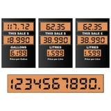 Gas pump display stock illustration