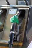 Gas pump into a distributor Royalty Free Stock Photo