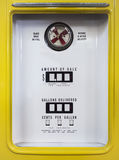 Gas pump front Display Vintage object Stock Photo