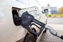 Gas Pump Fueling Car Royalty Free Stock Photography