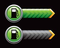 Gas pump in green and black arrows Stock Photo
