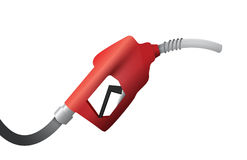 Gas pump handle illustration design over a white Royalty Free Stock Photo