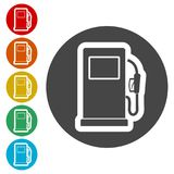 Gas pump icon, Gasoline and diesel fuel symbol Stock Images