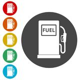 Gas pump icon, Gasoline and diesel fuel symbol Stock Image