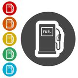 Gas pump icon, Gasoline and diesel fuel symbol Royalty Free Stock Photography