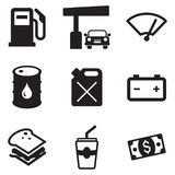 Gas Pump Icons Royalty Free Stock Image