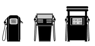 Gas pump illustration. (numbers on the pump can be seen in actual stock illustration