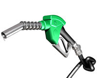 Gas pump with knotted hose Royalty Free Stock Photo