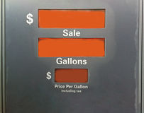 Gas Pump. A gas pump with no information on screen. Can be used for showing shocking price increases stock image