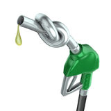 Gas pump nozzle. With knot isolated over white background Royalty Free Stock Photography