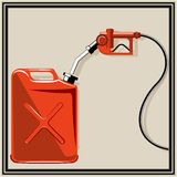 Gas pump nozzle Stock Images