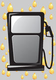 Gas pump nozzle icon Stock Image