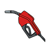 Gas Pump Nozzle illustration Royalty Free Stock Photography