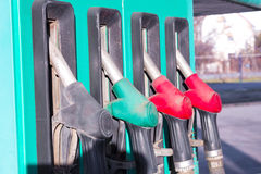 Gas Pump Nozzles Stock Image