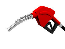 Gas pump nozzles. Red gas pump nozzles on white Royalty Free Stock Photo