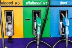Gas pump nozzles Stock Images