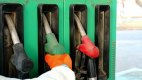 Gas Pump Nozzles stock video