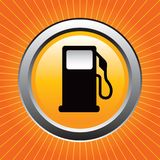 Gas pump on orange starburst Royalty Free Stock Image