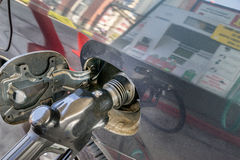 Gas pump reflected image Royalty Free Stock Photography