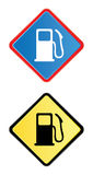 Gas pump road sign stock illustration
