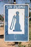 Gas Pump Sign. Old Gas Pump sign in Spain Stock Photography