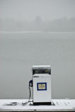 Gas Pump in snow storm Stock Photos
