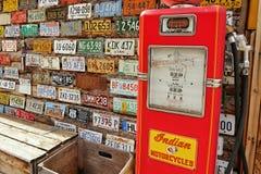 Gas pump stand museum Stock Photos