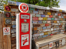 Gas pump stand museum Stock Photography
