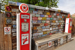 Gas pump stand museum Royalty Free Stock Images