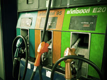 Gas pump Vintage Picture Royalty Free Stock Photos
