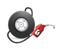 Gas pump wheel illustration design Stock Photo