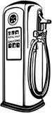 Gas pumpar stock illustrationer