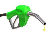Gas-Pumpe über Weiß Stockfoto
