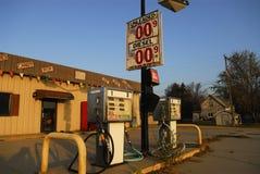 Gas-Pumpe Stockbild