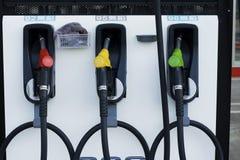 Gas-Pumpen lizenzfreie stockbilder